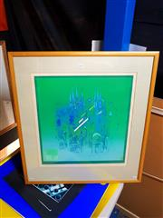 Sale 8671 - Lot 2028 - Artist Unknown - Katedrala Grafiky screenprint,72.5 x 67.5cm (frame) signed lower right