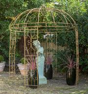 Sale 8745A - Lot 45 - An iron circular gazebo, approx H 300 x 250cm in diameter