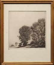 Sale 8762 - Lot 2010 - Gerrard Gayfield Shaw (1885 - 1961) - Falling Leaves, Bathurst 20.5 x 20.5cm