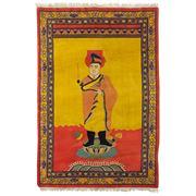 Sale 8911C - Lot 17 - Vintage Tibetan Pictorial Buddha Rug, 184x125, Handspun Wool