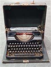 Sale 8988 - Lot 1033 - Vintage Cased Olympia Typewriter
