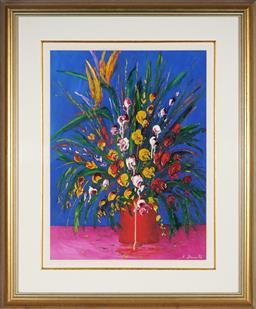 Sale 9047A - Lot 5006 - John Biasetto (1932 - ) - Floral Impression 59 x 44 cm (frame: 89 x 74 x 3 cm)