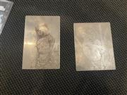 Sale 9082 - Lot 2023A - Two original etching plates of Koalas by Squire Morgan, unsigned in plate