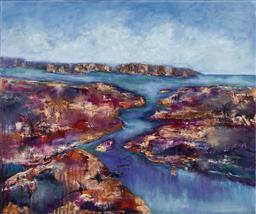 Sale 9212A - Lot 5031 - WENDY LE GRANGE Eternal Passage oil on canvas 90 x 120 cm inscribed and titled verso