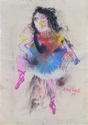 Sale 8339A - Lot 522 - Anne Hall (1945 - ) - Untitled, 1977 (Ballerina) 99.5 x 70.5cm (sheet size)