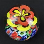 Sale 8402D - Lot 17 - Millefiori Art Glass Floral Paperweight (Height - 7cm)