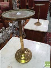 Sale 8416 - Lot 1037 - Pair of Ecclesiastical Telescopic Brass Candle Stands