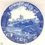 Sale 8649R - Lot 58 - Woden & Sons England Porcelain Charger Depicting Enoch Woods Castle (H: 41cm)