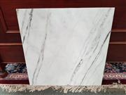 Sale 8669 - Lot 1036 - Square White Marble Table Top Only with Rounded Edges (70cm)