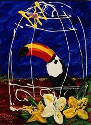 Sale 8732 - Lot 522 - Dean Vella (1958 - ) - Toucan 50 x 40cm