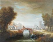 Sale 8813 - Lot 595 - Jozef Kivits (1945 - ) - Arched Bridge 38.5 x 49cm