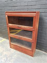 Sale 9034 - Lot 1016 - Timber Legal Bookcase 150 (h:126 x w:89cm)