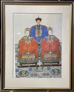 Sale 9113 - Lot 2024 - A group of 4 framed decorative prints, largest frame size: 107 x 86 cm