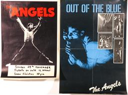 Sale 9136 - Lot 39 - The Angels Gig Poster (51cm x 38cm) Out of the Blue Album Poster (60cm x 41cm) (some folds)