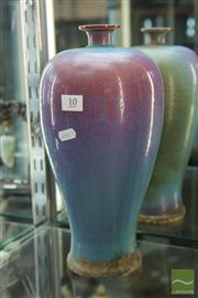 Sale 8285 - Lot 10 - Flambe Glazed Meiping Shaped Vase
