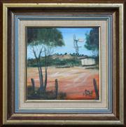 Sale 8286 - Lot 533 - Kevin Charles (Pro) Hart (1928 - 2006) - Windmill 19.5 x 19.5cm