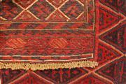 Sale 8445K - Lot 10 - Afghan Tribal Meshwani Rug , 129x120cm, Unique Afghan tribal Meshwani rug, handwoven in Northern Afghanistan by nomadic people. Simp...