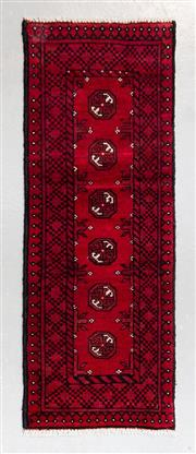 Sale 8480C - Lot 26 - Afghan Turkman 145cm x 54cm