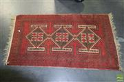 Sale 8506 - Lot 2090 - Persian Rug in Reds 141x54cm