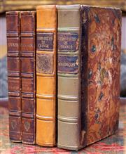 Sale 8568A - Lot 84 - Jean Francoise Bastian, Oeuvres De Montesquieu, New Ed, 2 volumes only, Paris, 1788, together with 2 volumes of Jacques Buchon Ch...