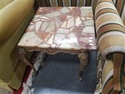 Sale 8676 - Lot 1378 - Marble Top Side Table