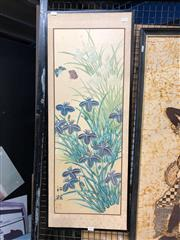 Sale 8779 - Lot 2052 - 2 Works: Leonard Beck - Coastal Scene with cottage, 1965, watercolour, and a Chinese watercolour - Flowers and Butterflies