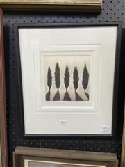 Sale 8888 - Lot 2008 - Peter Hickey - Berrima Pines 1999 etching and aquatint, ed. 24/75, signed and dated