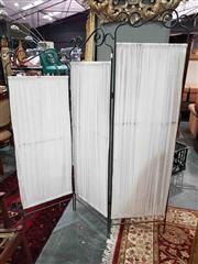 Sale 8934 - Lot 1040 - Scrolled Metal Three Panel Dressing Screen