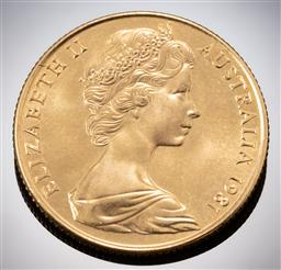 Sale 9153C - Lot 326 - AUSTRALIAN TWO HUNDRED DOLLAR GOLD COIN; 1981 Charles Diana Wedding; 22ct gold wt. 9.98g.