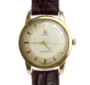 Sale 8414 - Lot 348 - OMEGA SEAMASTER AUTOMATIC WRISTWATCH; guilloche dial with applied markers, centre seconds on a bumper automatic 17 jewell movement c...