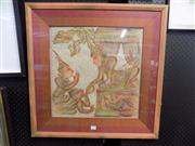 Sale 8441T - Lot 2079 - 2 Framed Indonesian Shadow Puppet