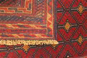 Sale 8445K - Lot 11 - Afghan Tribal Meshwani Rug , 116x112cm, Unique Afghan tribal Meshwani rug, handwoven in Northern Afghanistan by nomadic people. Simp...