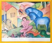 Sale 8682 - Lot 2013 - Franz Marc - El Sueno (1912), poster, from Museo Thyssen - Bornemisza, Madrid, 60.5 x 73.5cm