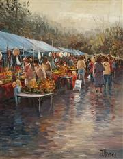 Sale 8704A - Lot 5004 - John Vander (1945 - ) - Market Day 37 x 30cm