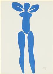 Sale 8773A - Lot 5032 - Henri Matisse (1869 - 1954) - Blue Nude Series 34 x 24.5cm (frame: 71.5 x 63cm)