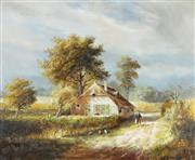 Sale 8813 - Lot 596 - Jozef Kivits (1945 - ) - The White Farmhouse 49 x 59cm