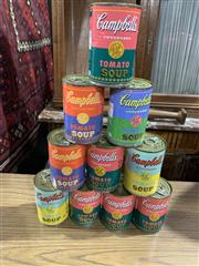 Sale 9002 - Lot 1006 - Heinz Soup Cans (h:11cm)