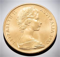 Sale 9153C - Lot 329 - AUSTRALIAN TWO HUNDRED DOLLAR GOLD COIN; 1983 Koala, 22ct gold, wt. 10.02g.