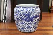 Sale 8292 - Lot 18 - Chia Ching Style Blue & White Vat