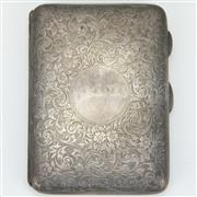 Sale 8342 - Lot 36 - English Hallmarked Sterling Silver Edward VII Pocket Notebook