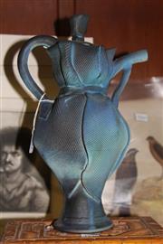 Sale 8346 - Lot 38 - Clare Locker Studio Pottery Teapot (AF)
