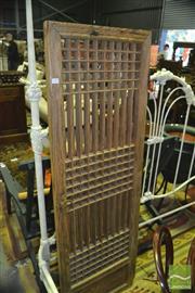 Sale 8368 - Lot 1004 - Pair of C19th Korean elm-wood lattice doors