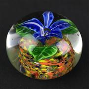 Sale 8402D - Lot 19 - Castellani Millefiori Art Glass Floral Paperweight (Height - 7cm)