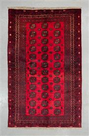 Sale 8480C - Lot 27 - Approx. 20 Year Old Vintage Afghan Turkman 190cm x 117cm