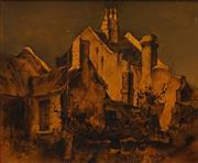 Sale 8704A - Lot 5006 - Alex McMillan (1910 - 1987) - Golden Morning, Pyrmont Sydney 37 x 45cm