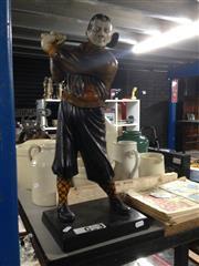 Sale 8717 - Lot 1055 - Composite Golfer Statue