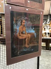 Sale 8759 - Lot 2045 - Paul Delprat - Seated Nude 64 x 49cm