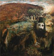 Sale 8781A - Lot 5013 - Neville Pilven - Man at the Well 121 x 113.5cm