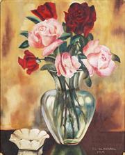 Sale 8838A - Lot 5159 - S W Silberman - Roses, 1958 53 x 43cm