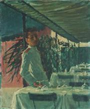 Sale 8867 - Lot 597 - Robin Vere Darwin (1910 - 1974) - The Waiter, 1954 75 x 62 cm